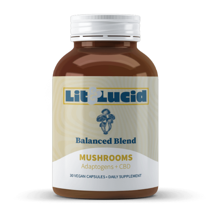 Mushroom Capsules - Balanced Blend   Lit & Lucid™