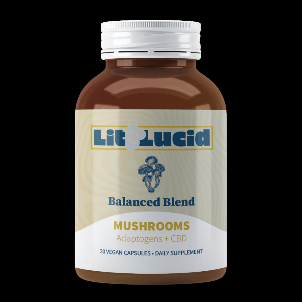 Lit & Lucid™ Launches Functional Mushrooms + CBD Capsules